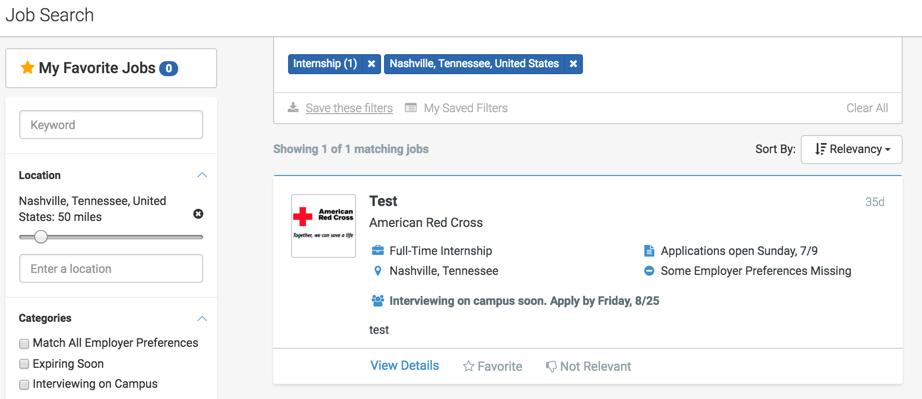 How do I search for jobs and internships Handshake Help Center – Summer Intern Job Description
