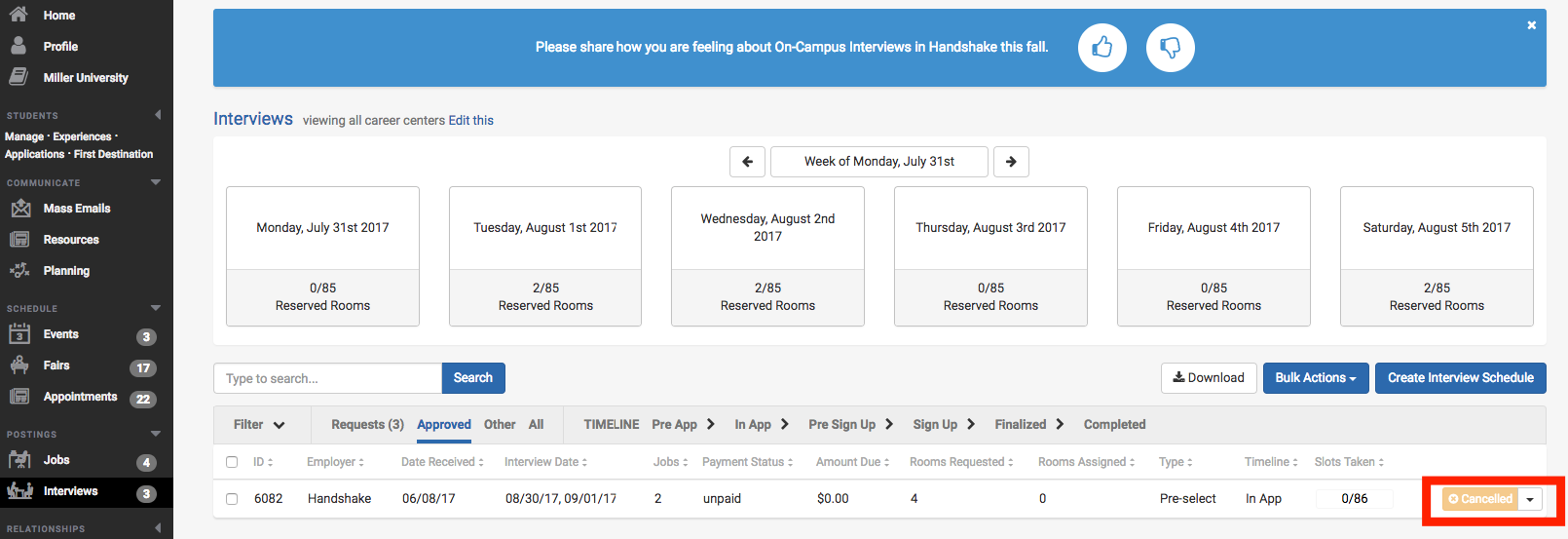 Beautiful Tip: Use The U0027Otheru0027 Filter To View All Cancelled/declined Interview  Schedules