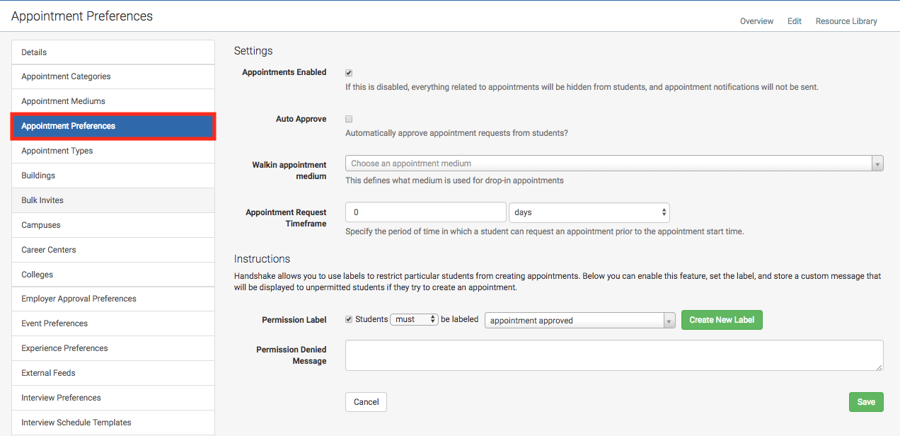 School settings appointment preferences and mediums handshake school settings appointment preferences and mediums altavistaventures Choice Image
