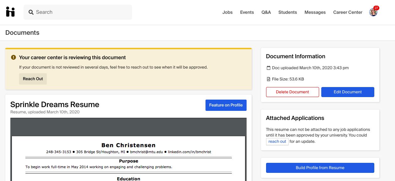 how to upload a new document  u2013 handshake help center