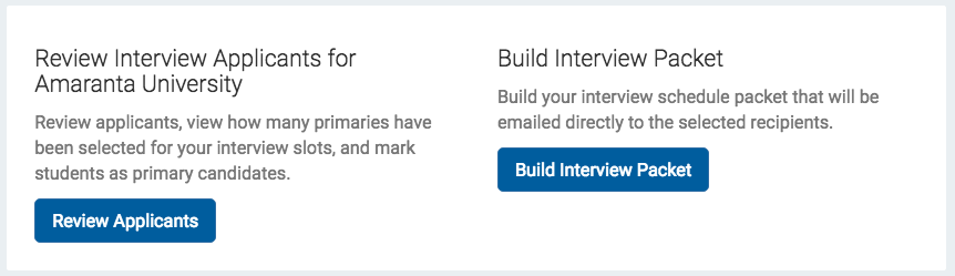 How To Print An Interview Schedule Packet Handshake Help Center