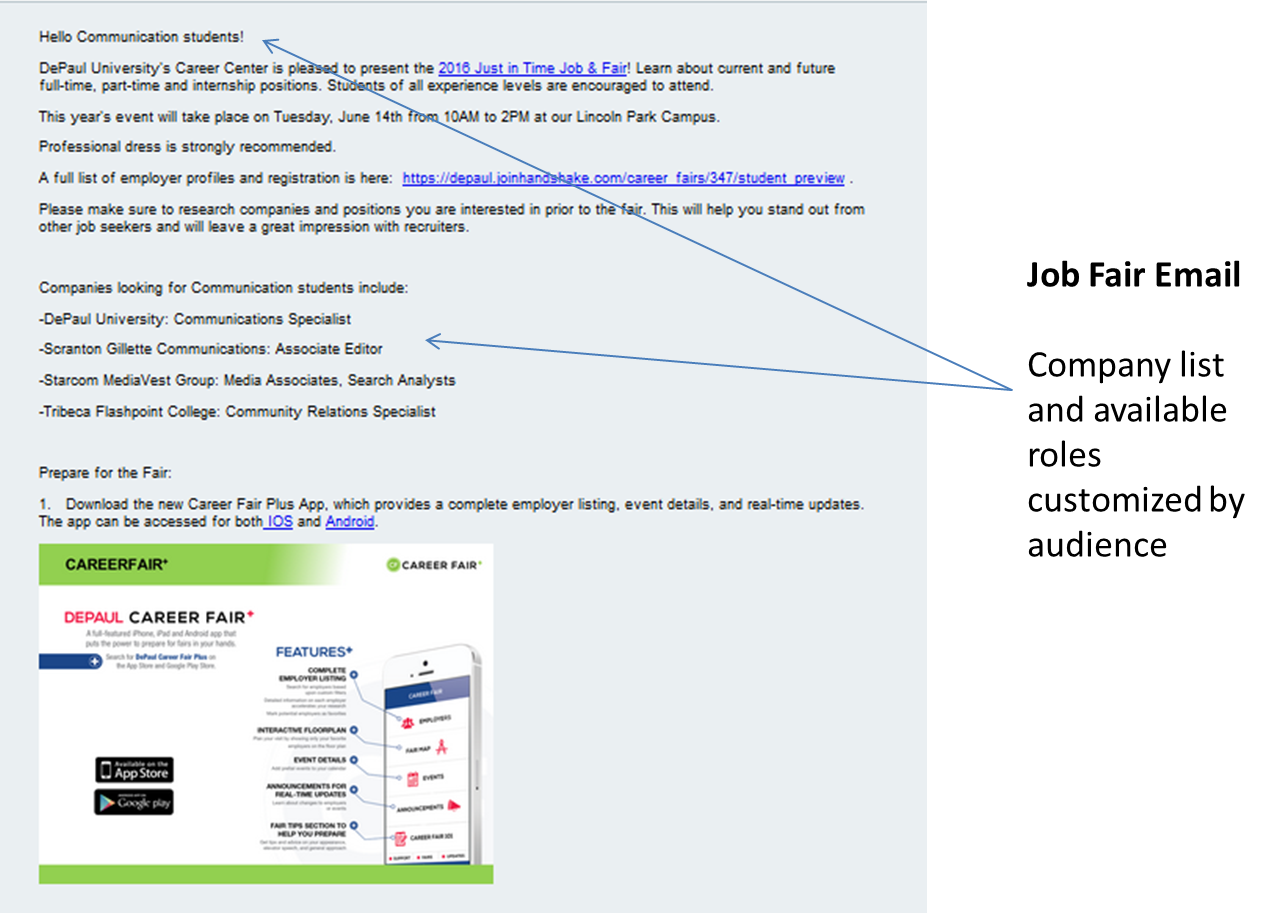 Mass Emails Strategy and Tools: DePaul's Approach